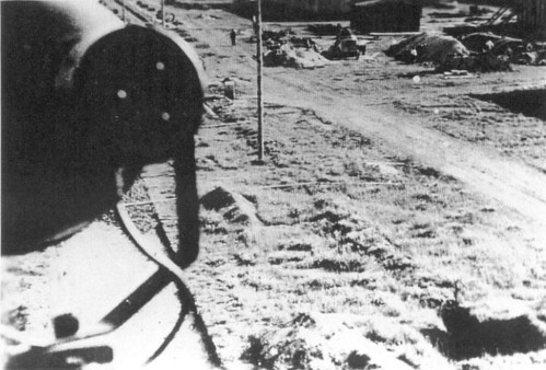 The unfinished main road through Stalag Luft 4