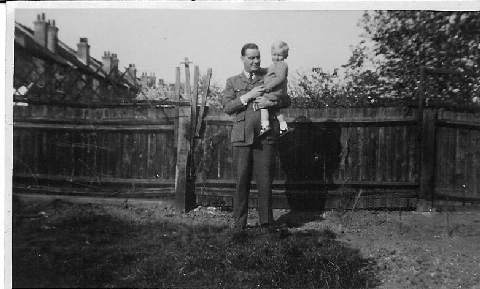 Photograph provided by his son, Tony Randall (shown in his father's arms)